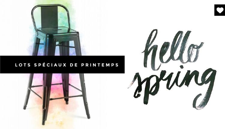 Le printemps amène les nouveautés ! Nouveaux packs de meubles design Meubles Concept