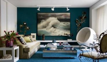 Le bleu pétrole dans la décoration intérieure