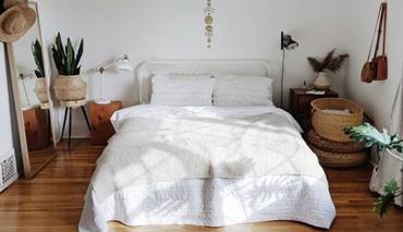 Les touches déco d'une chambre à coucher boho chic moderne