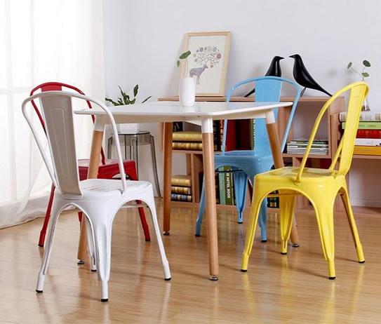 chaise-bistro-style-matt-jaune-meubles-concept